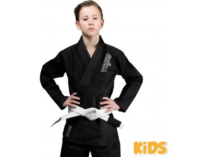 Kids BJJ gi Venum Contender BLACK + white belt
