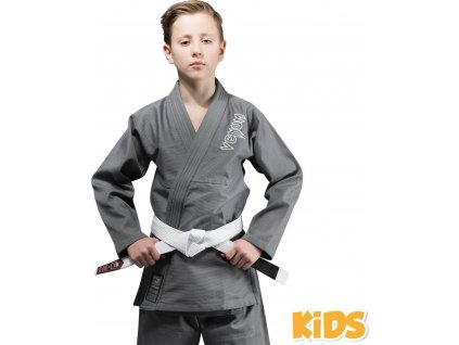 Kids BJJ gi Venum Contender GREY + white belt