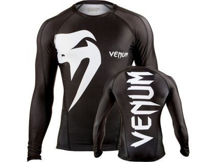 Rashguard Venum Giant - long sleeves - BLACK/WHITE