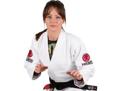 Ladies BJJ gi kimono Tatami Minimo 2.0 gi WHITE + WHITE belt FREE