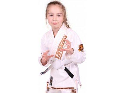Kids BJJ gi kimono / gi NEW MEERKATSU KIDS ANIMAL - WHITE - Tatami Fightwear + FREE WHITE BELT