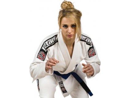 Ladies Nova 2015 WHITE Tatami fightwear BJJ gi kimono + FREE WHITE BELT