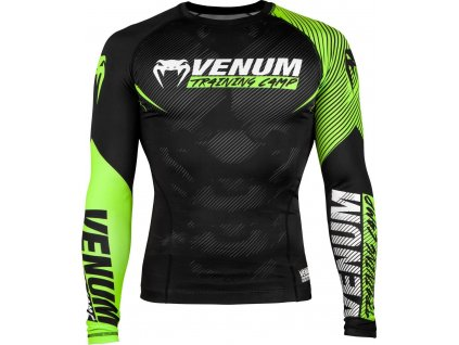 Rashguard Venum Training Camp 2.0 Long Sleeves - BLACK/NEO YELLOW