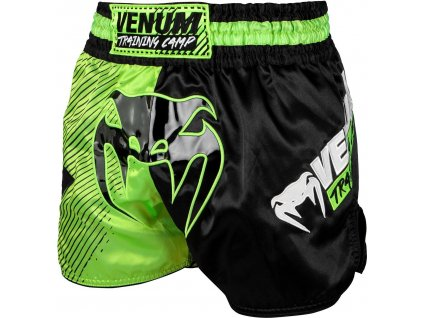 Shorts Venum Training Camp 2.0 Muay Thai - Black/Neo Yellow