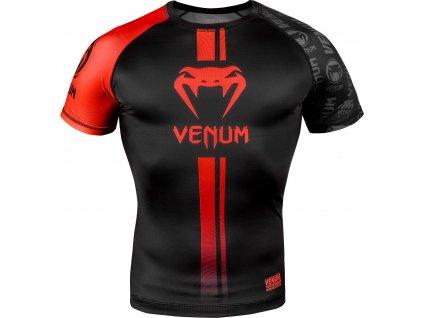 Rashguard Venum Logos - Short Sleeves - Black/Red