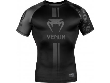 Rashguard Venum Logos - Short Sleeves - Black/Black