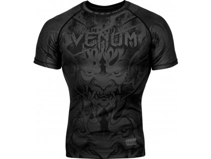 Rashguard Venum Devil - Short Sleeves - Black/Black