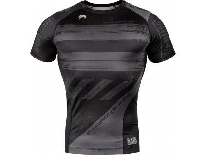Compression T-Shirt Venum Amrap - Short Sleeves - Black/Grey