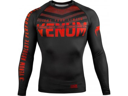 Rashguard Venum Signature - Long Sleeves - Black/Red