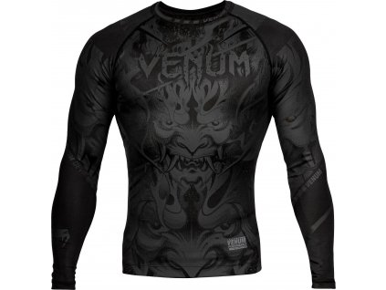 Rashguard Venum Devil - Long Sleeves - Black/Black