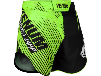 MMA Shorts Venum Training Camp 2.0 - Black/Neo Yellow