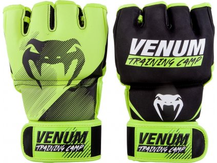 MMA Gloves Venum Training Camp 2.0 - Black/Neo Yellow