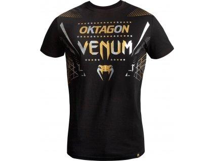 T-Shirt Venum Oktagon - Black/Gold-Silver