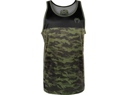 Men's Tank Top Venum Trooper - Forest Camo/Black