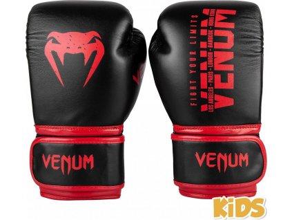 Kids Boxing Gloves Venum Signature - Black/Red