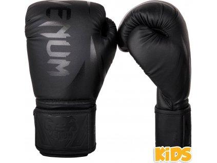 Kids Boxing Gloves Venum Challenger 2.0 - Black/Black