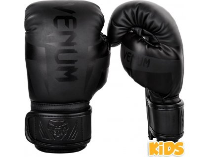 KIDS Boxing Gloves Venum Elite - Black