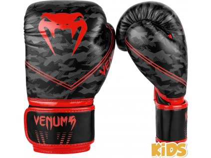 KIDS Boxing Gloves Venum Okinawa 2.0 - Black/Red