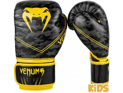 KIDS Boxing Gloves Venum Okinawa 2.0 - Black/Yellow