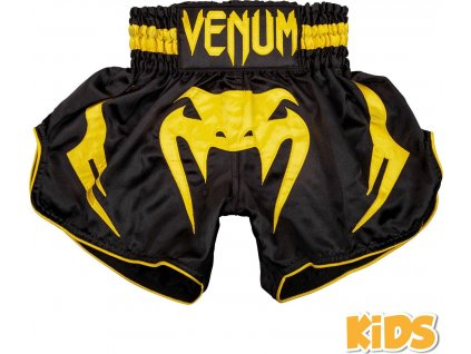 KIDS Muay Thai Shorts Venum Bangkok Inferno - Black/Yellow