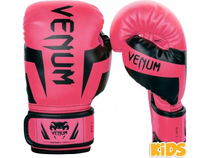 KIDS Boxing Gloves Venum Elite - Pink