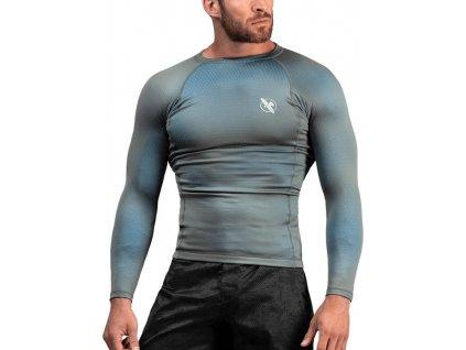 Rashguard Hayabusa Fusion - Grey/Aqua - Long Sleeves