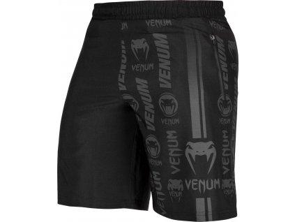Training Shorts Venum Logos - Black/Black
