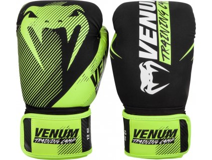 Boxing Gloves Venum Training Camp 2.0 - Black/Neo Yellow