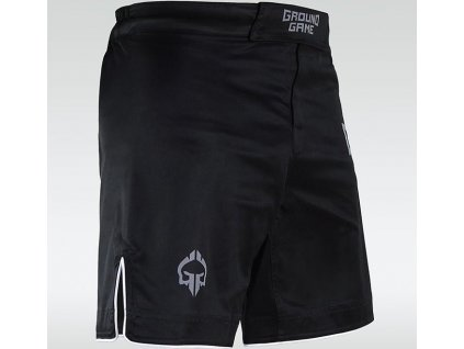 MMA Shorts Ground Game Athletic Shadow - Black