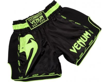 Muay Thai Shorts Venum Giant - Black/Neo Yellow