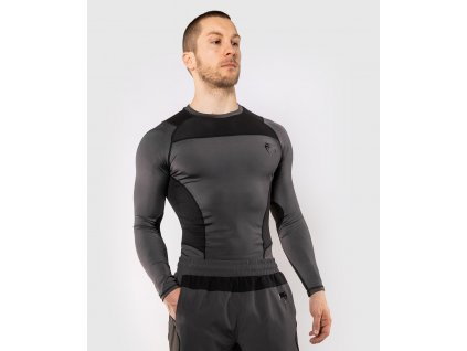 Rashguard Venum G-FIT - Long Sleeves - Grey/Black