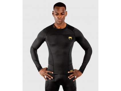 Rashguard Venum G-FIT - Long Sleeves - Black/Gold