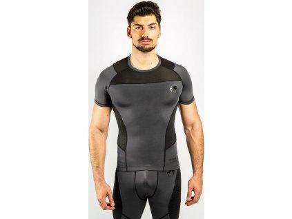 Rashguard Venum G-FIT - Short Sleeves - Grey/Black