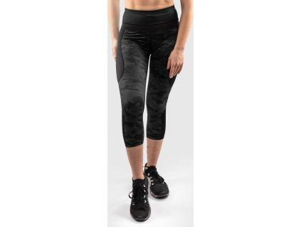 Womens Crop Leggings Venum Defender - Black/Black