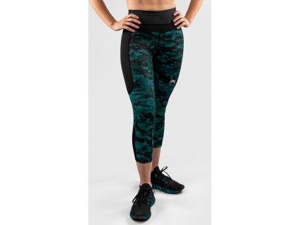 Womens Crop Leggings Venum Defender - Black/Green