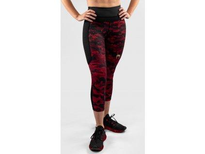 Womens Crop Leggings Venum Defender - Black/Red