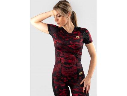 Womens Rashguard Venum Defender - Short Sleeves - Black/Red