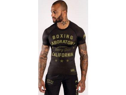 Rashguard Venum Boxing Lab Rashguard - Long Sleeves - Black/Green