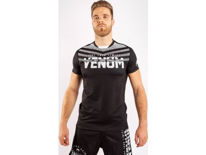 Men's T-shirt Venum Signature Dry Tech - Black/White