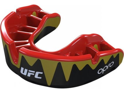 Mouthguard OPRO Platinum UFC - Black/Red/Gold