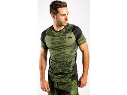 Men's T-shirt Venum Trooper Dry Tech - Forest Camo/Black