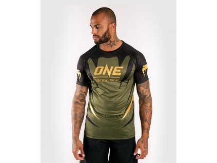 Men's T-shirt Venum X One FC Dry Tech - Khaki/Gold