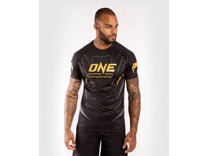 Men's T-shirt Venum X One FC Dry Tech - Black/Gold