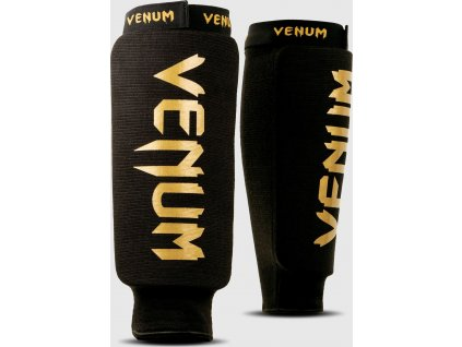 Shin Guards Venum Kontact - WITHOUT FOOT - Black/Gold