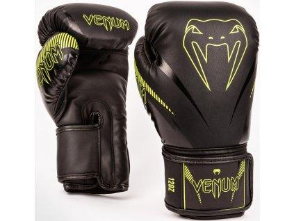 Boxing Gloves Venum Impact - Black/Neo Yellow