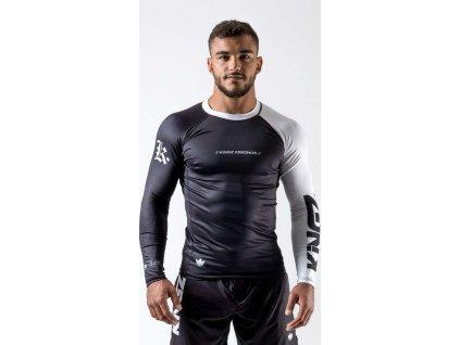 Rashguard Kingz OE - long sleeves - Black/White