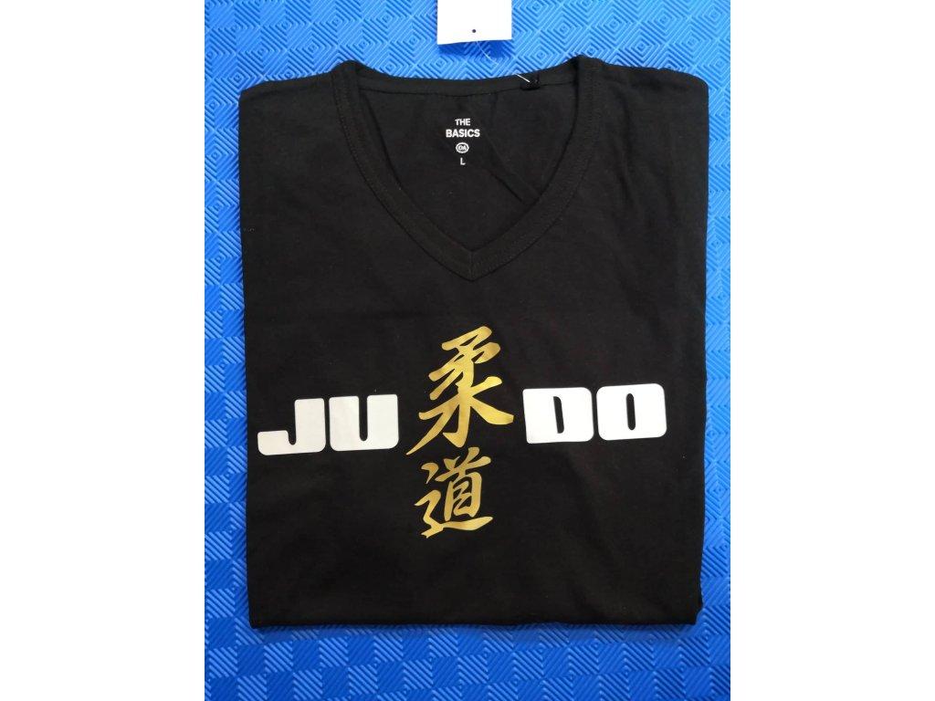 Tričko JUDO černé - zlaté logo střed