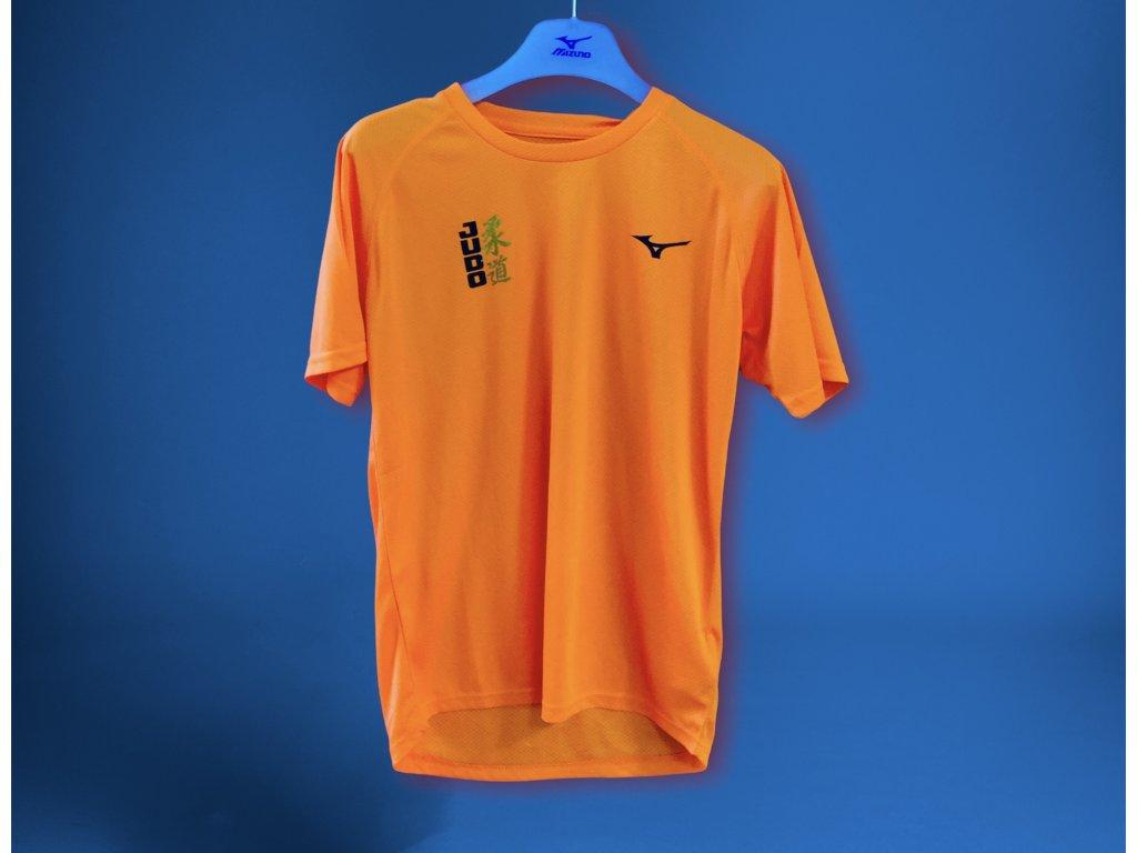 Tričko mizuno judo sportovní - Oranžové