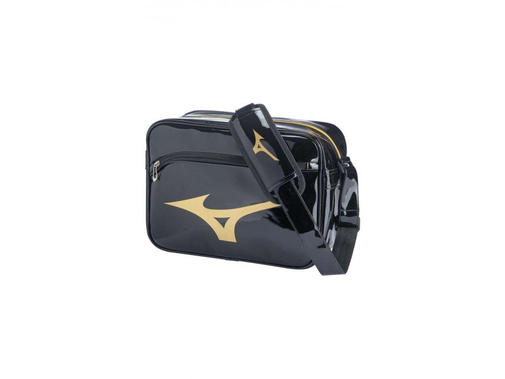 rb enamel bag m black gold one size