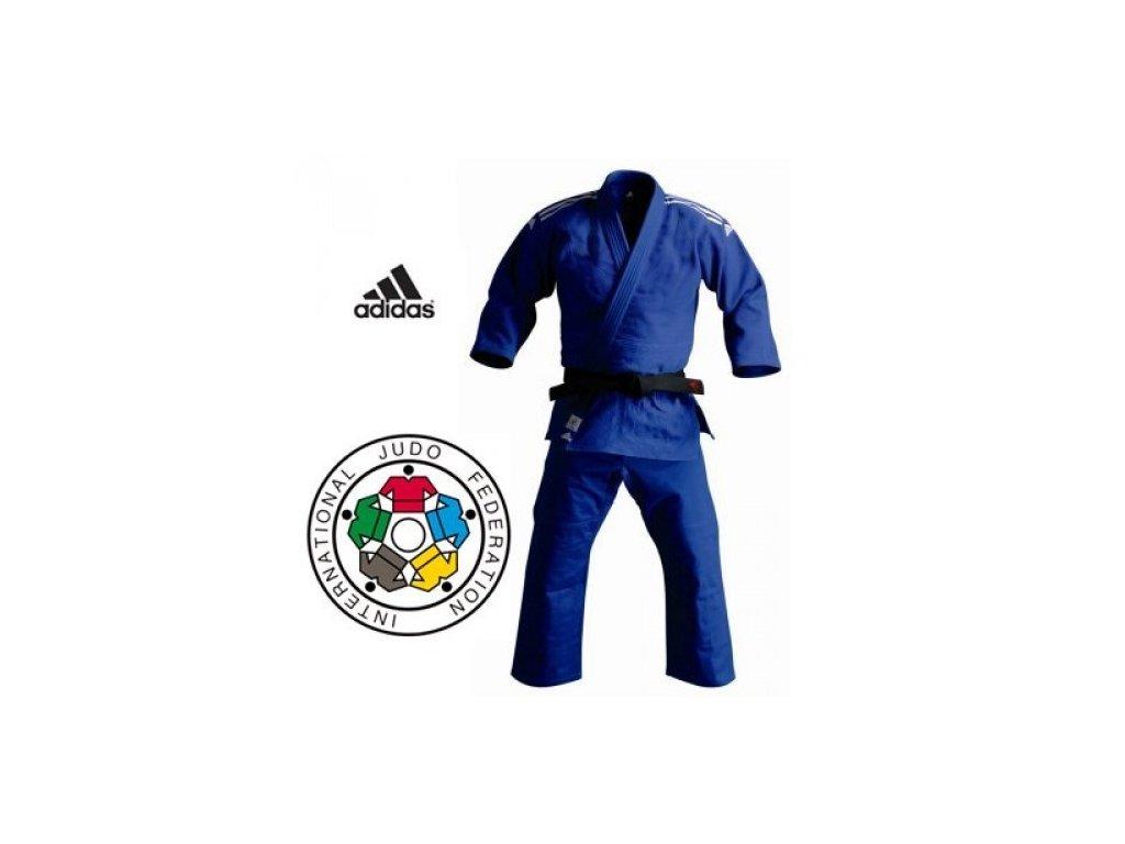 Kimono na judo IJF ADIDAS CHAMPION II Široké / Regular - modré
